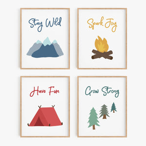 Nature's Playground Art Prints (Set of 4)