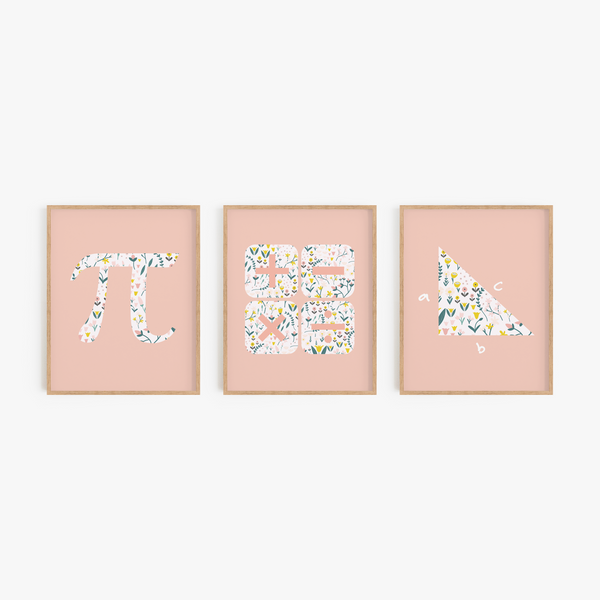 Math Foundations Art Prints (Set of 3)