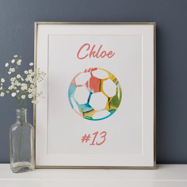 Personalized Soccer Art Print