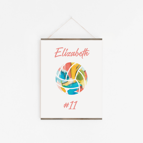 Personalized Volleyball Art Print