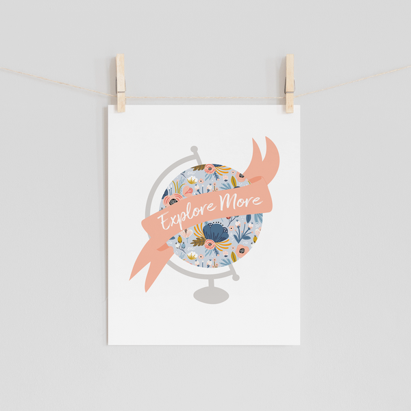Explore More Floral Globe Art Print