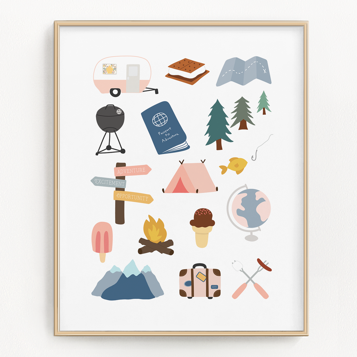 Explore Everything Art Print