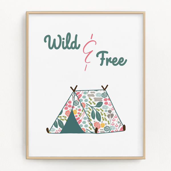 Floral Tent and Trailer Art Prints (Set of 2)