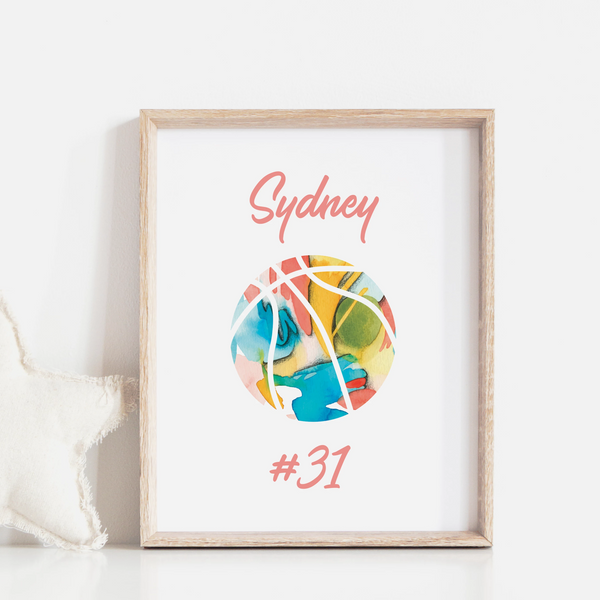 Personalized Basketball Art Print