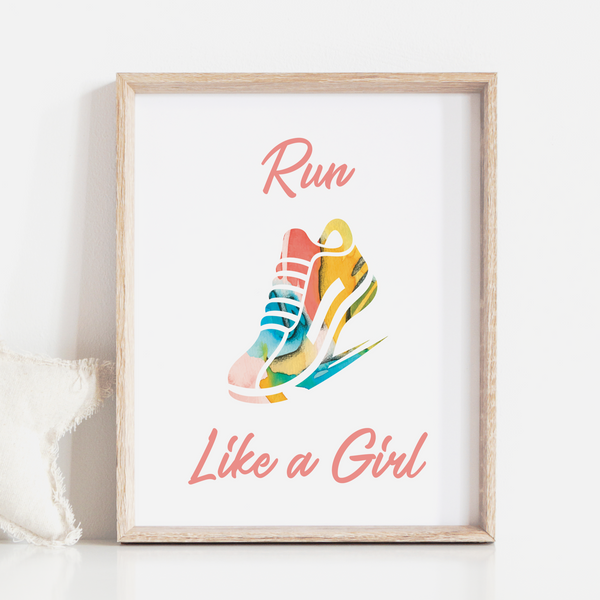 Run Like A Girl Art Print