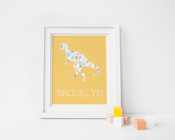 Personalized T-Rex Art Print