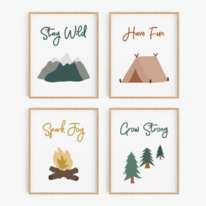 Natural Wonders Art Prints (Set of 4)
