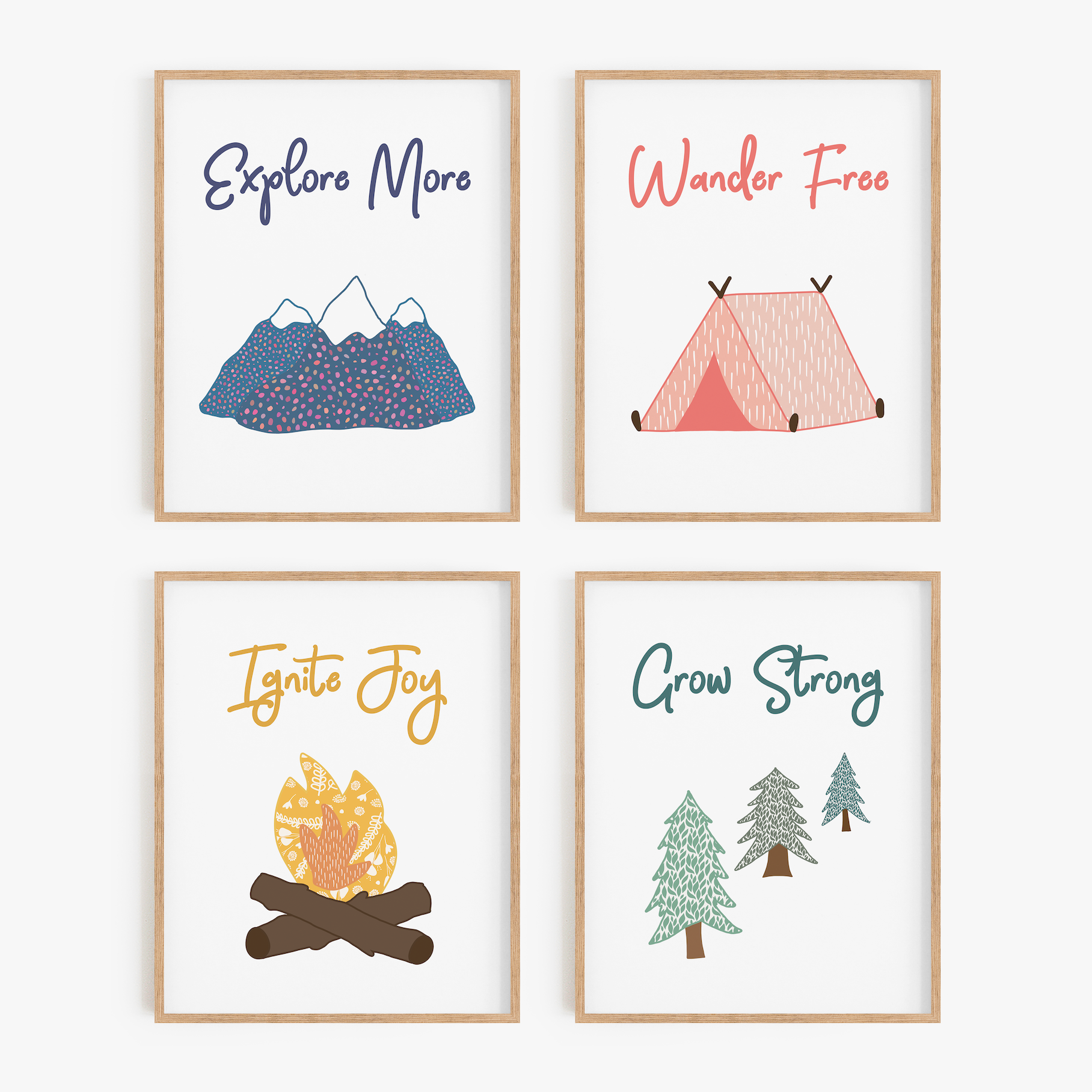 Playful Outdoors Art Prints (Set of 4)