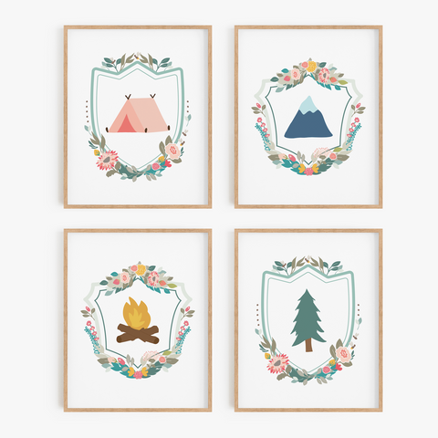 Floral Adventure Art Prints (Set of 4)