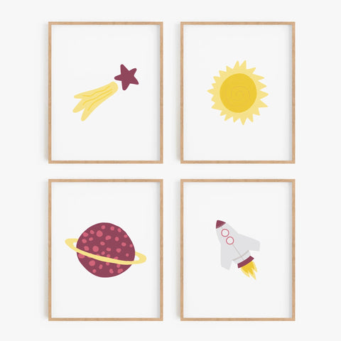 Explore the Universe Art Prints (Set of 4)