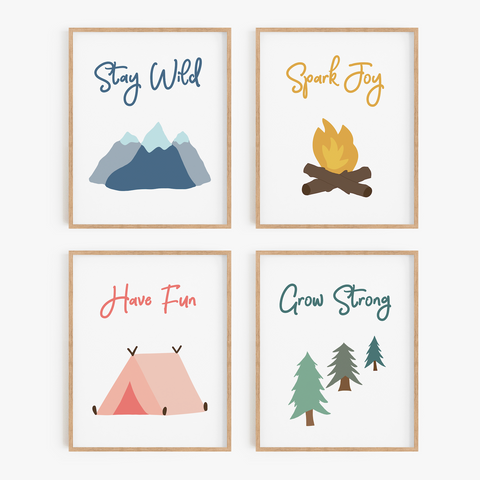Great Outdoors Art Prints (Set of 4)