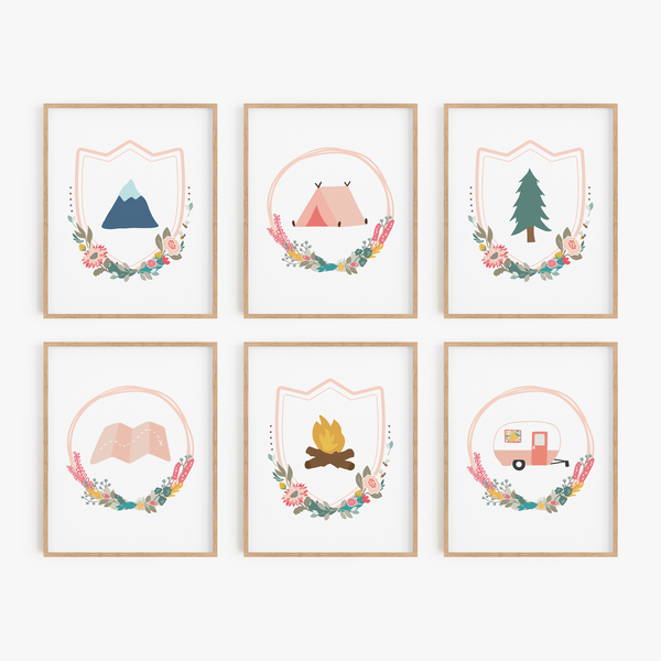 Floral Adventure Art Prints (Set of 6)