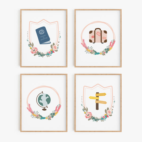 Wanderlust Art Prints (Set of 4)
