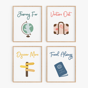 World Tour Art Prints (Set of 4)