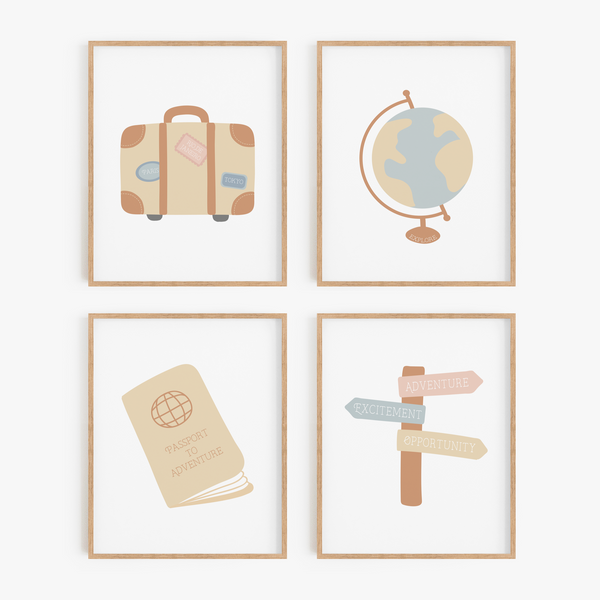 Globetrotter Art Prints (Set of 4)