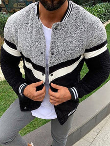 Street Fashion Contrast Color Jacket