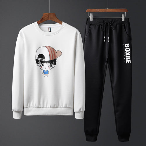 Fashion Cartoon Character Printed Sweater Trouser Bodysuits