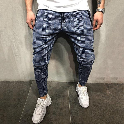 Casual Sport Slim Fit Check Pants
