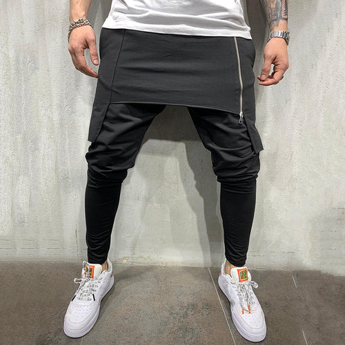 Fashion Individuality Two-Layer Design Casual Pants