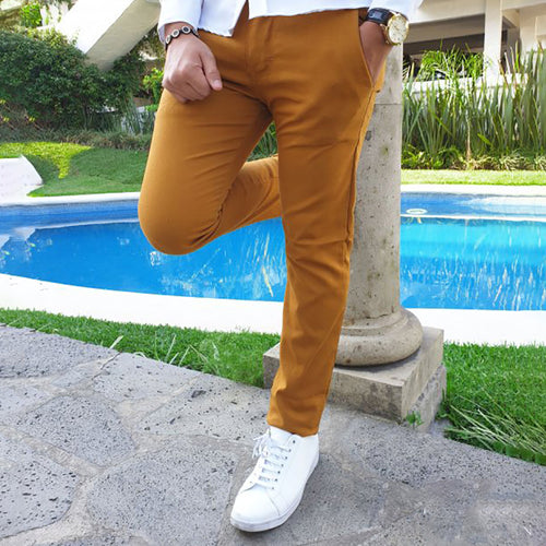 Casual Simple Pure Colour Straight Type Pants
