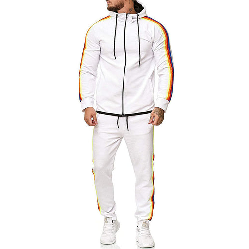 Fashion Minimalist Striped Hooded Sports Bodysuits