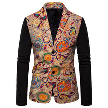 Load image into Gallery viewer, National Style Casual Slim Fit Printed Two Buckles Suit