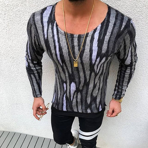 Fashion Creative Round Neck Long Sleeve T-Shirt