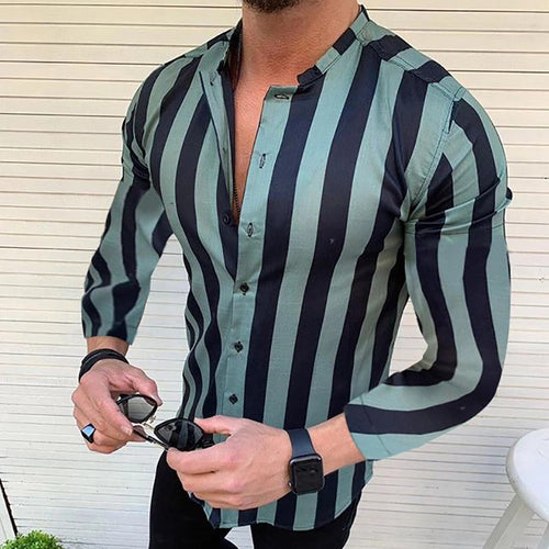 Fashion Classic Slim Stripe Shirt