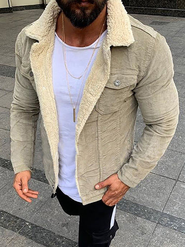 Casual Fashion Suede Fleece Jacket