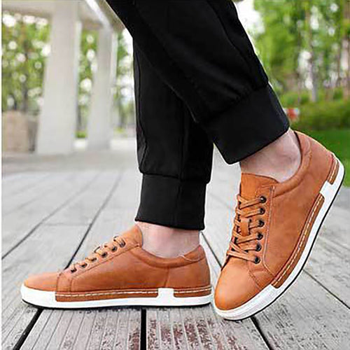 Men's large size strap casual board shoes