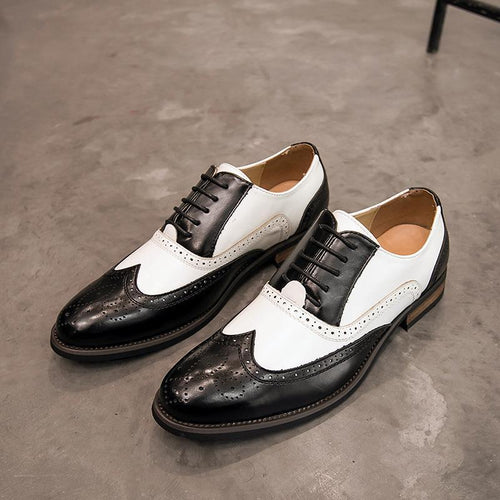Carved Korean Men's Business Casual Shoes