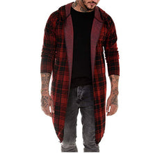 Load image into Gallery viewer, Casual Plaid Mid-Length Hooded Coat