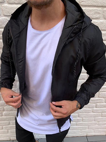 Sporty Casual Hooded Short Jacket