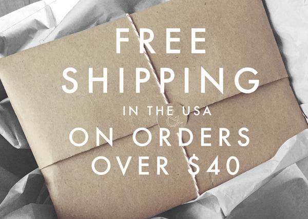 free shipping in the USA on orders over $40