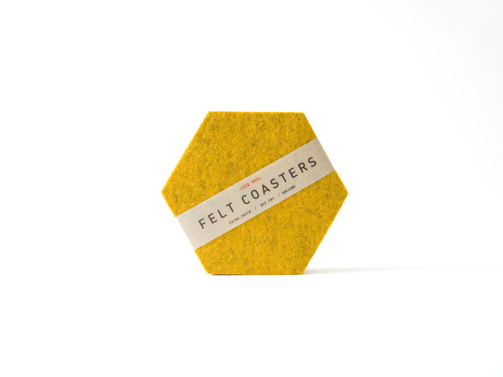 Mustard Yellow Hexagon Coaster main-slider