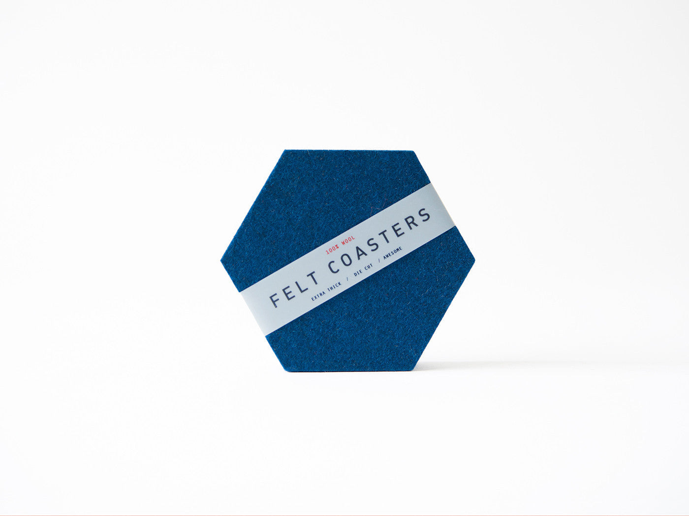 Ocean Blue Hexagon Coaster main-slider