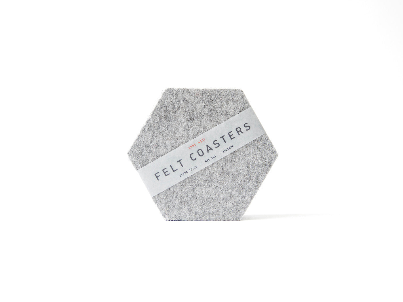 Grey Hexagon Coaster main-slider