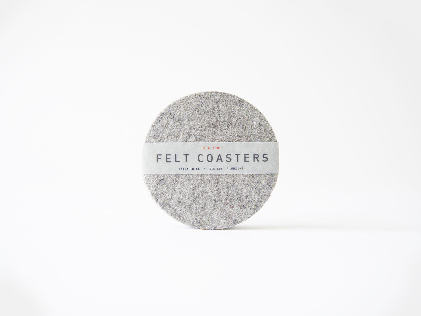 Gray wool felt coaster main-slider