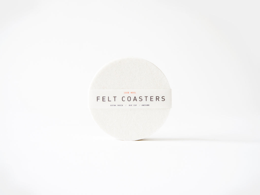 Round Coasters - Winter White