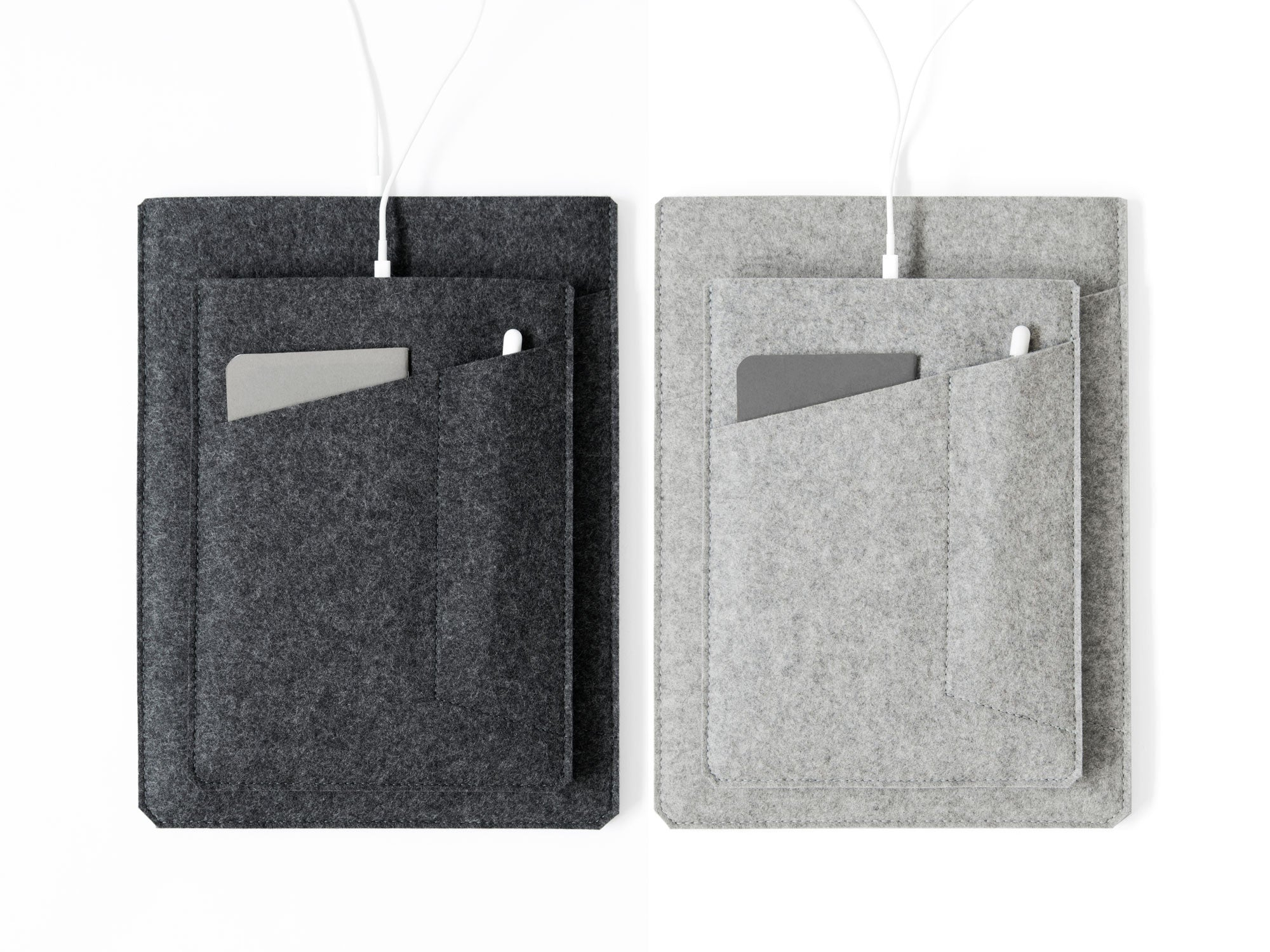 iPad Sleeve with Pockets - Felt