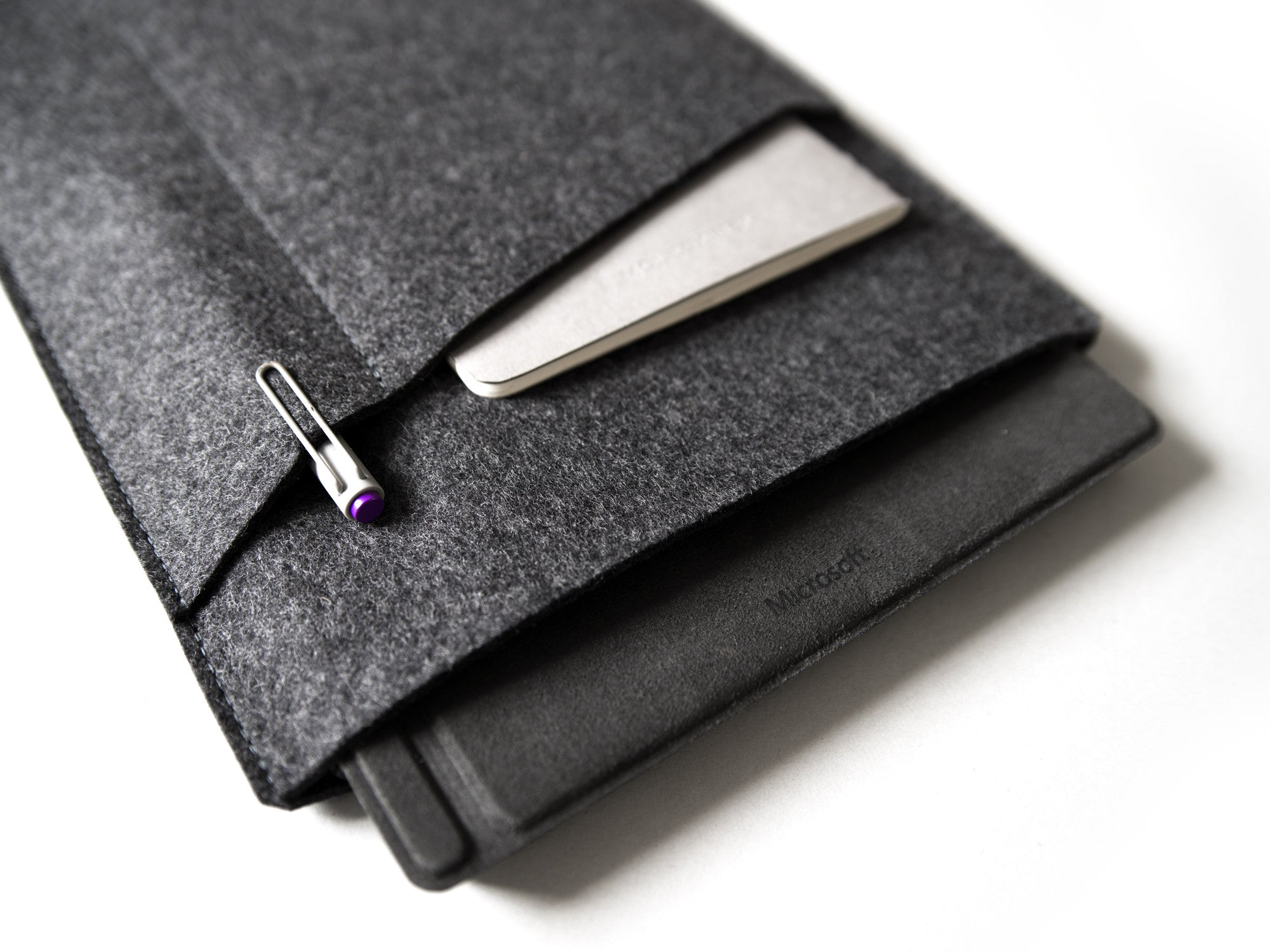 Surface Pro Sleeve with Pockets - Felt