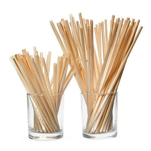 short wheat straws in 2 glasses - 2