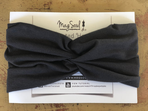 KnotTwisted Headband - Charcoal