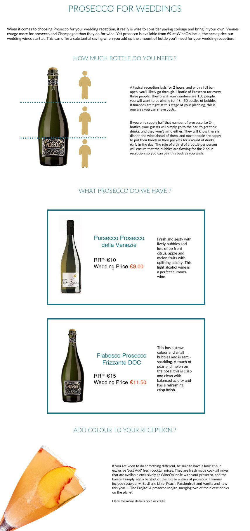 Prosecco For Your Reception Premium Wine Gifts And Wine Cases From