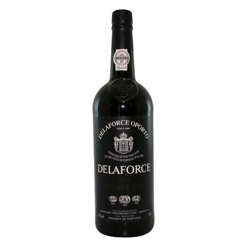 Vintage Port 2000 Delaforce Single Bottle in A Wooden Gift Box