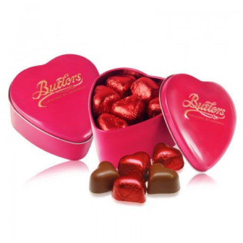 Butlers Pink Keepsake Heart Tin, With 13 Chocolates