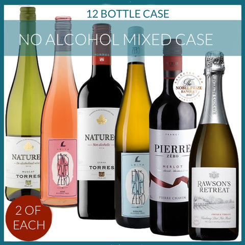 No Alcohol Wines Mixed Case - 12 Bottles