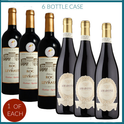 Amarone & Bordeaux Six Bottle Gift Box