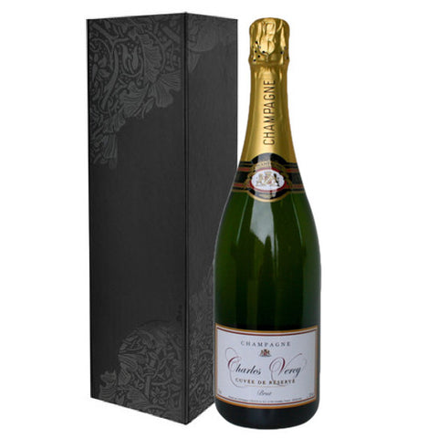 Charles Vercy Reserve Champagne Single Bottle Gift Pack 75cl