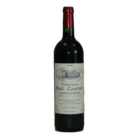 Chateau MaCarthy, St. Estephe Single Bottle